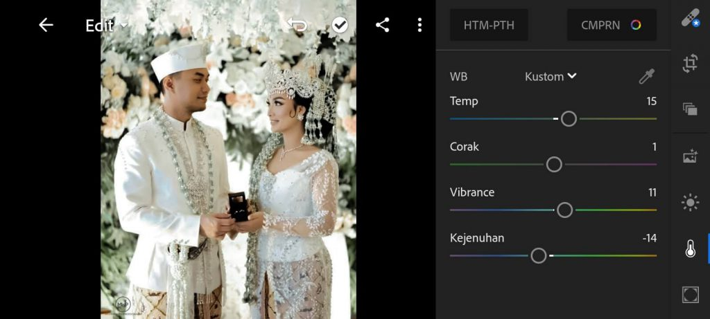 Preset Lightroom Wedding Kekinian