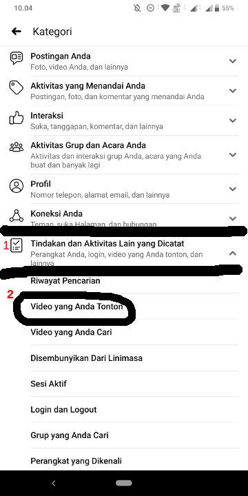 Cara Menghapus Riwayat Video di Facebook