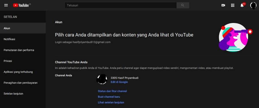 Caara Mengubah Nama Akun Channel Youtube