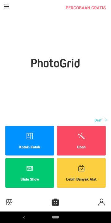 cara menggabungkan foto di photogrid