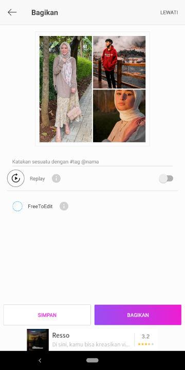 cara menggabungkan foto dengan picsart