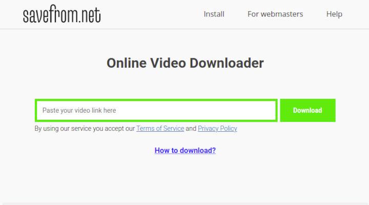 cara download video instagram menggunakan savefrom