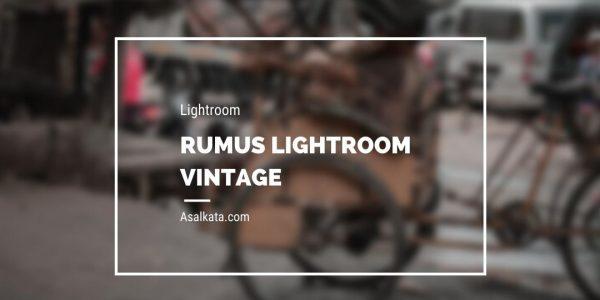 Rumus Lightroom Vintage Keren