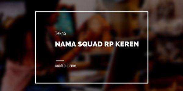 Nama Squad RP Keren Aesthetic