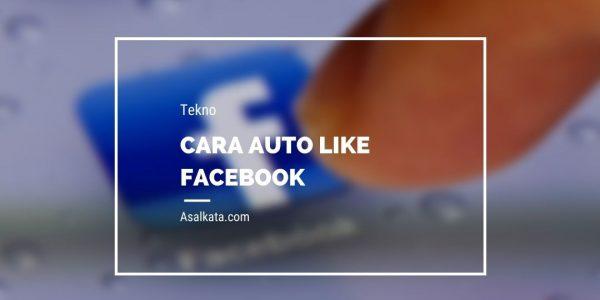 Cara Auto Like Facebook (FB)